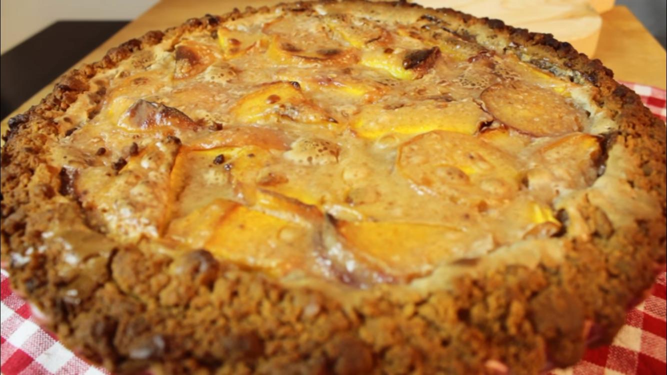 Receita de tarte de pêssego