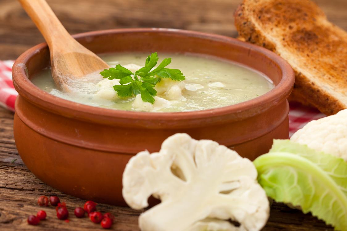 Receita de sopa de couve-flor