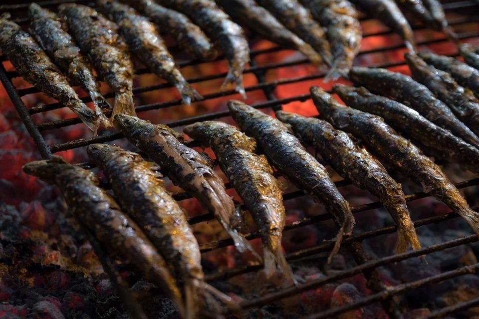 É isto o que eu faço para as minhas sardinhas não ficarem agarradas à grelha!