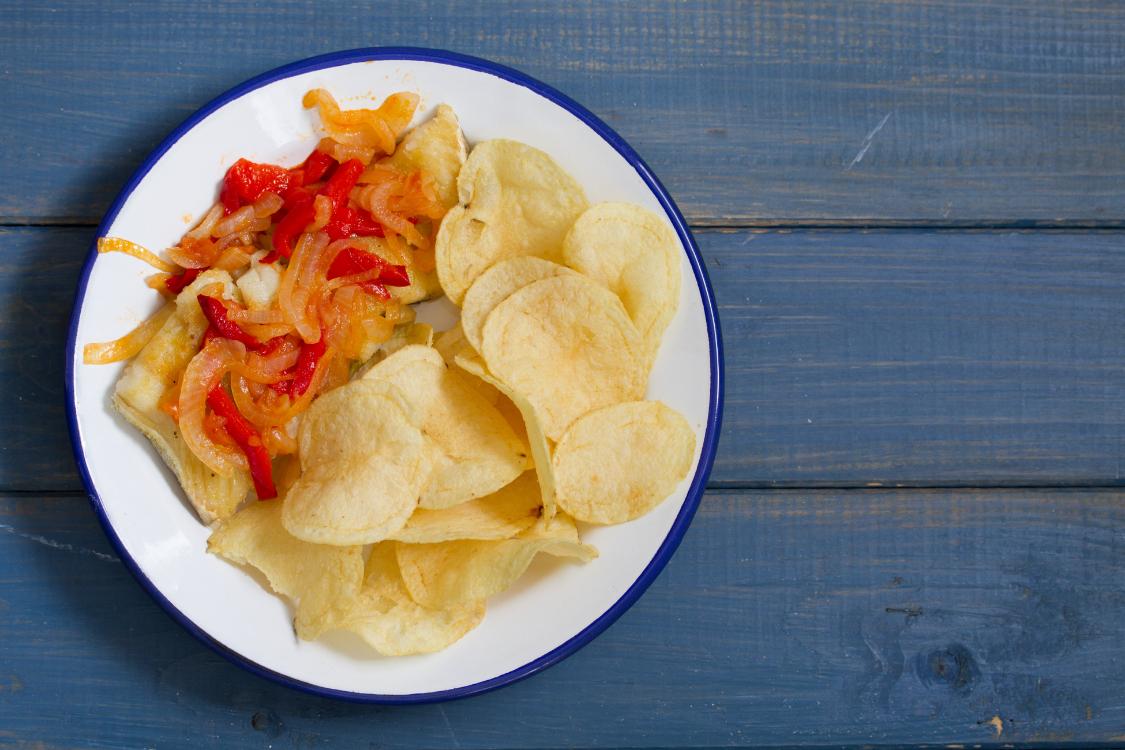 Bacalhau com cebolada de pimentos