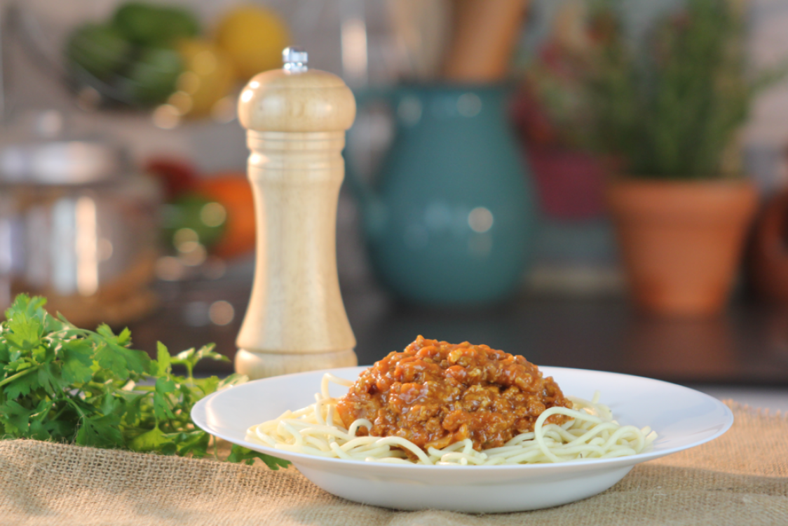 Receita rápida de esparguete à bolonhesa