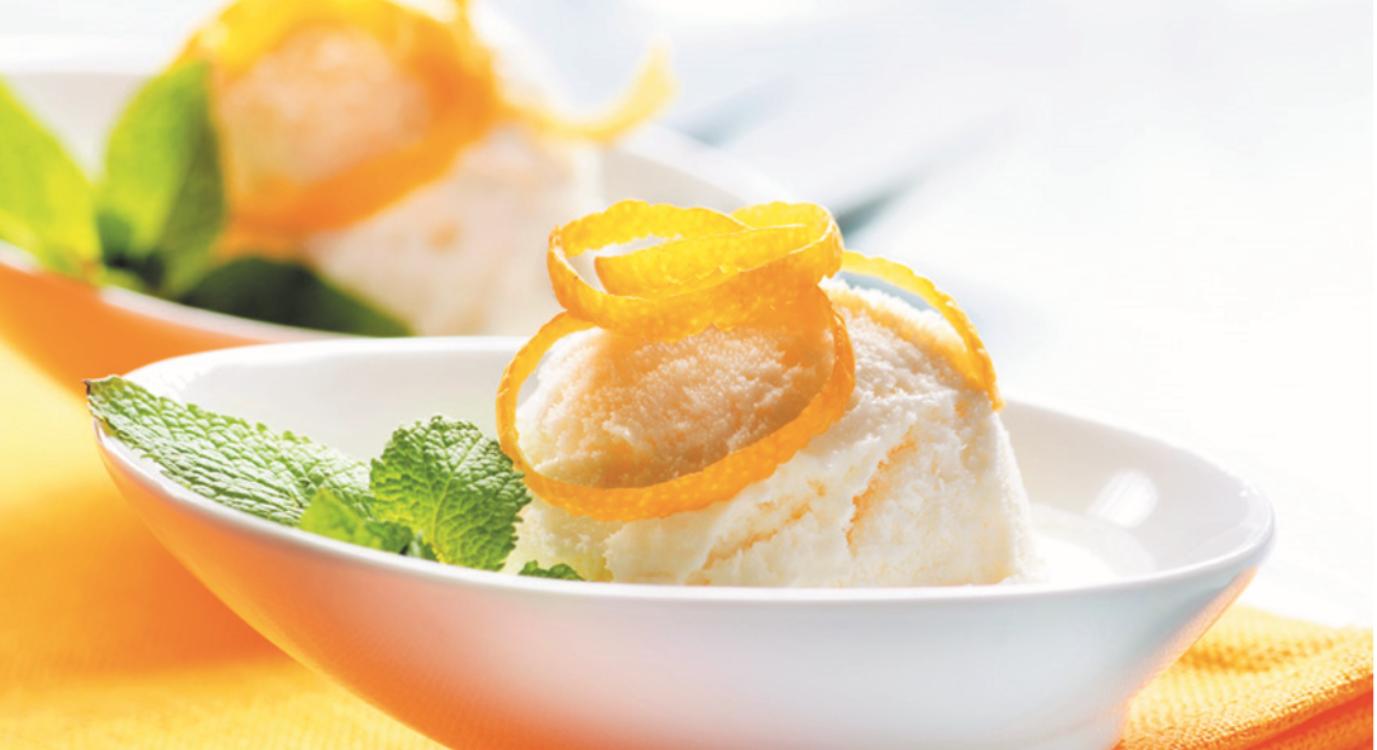 Receita de gelado de limão