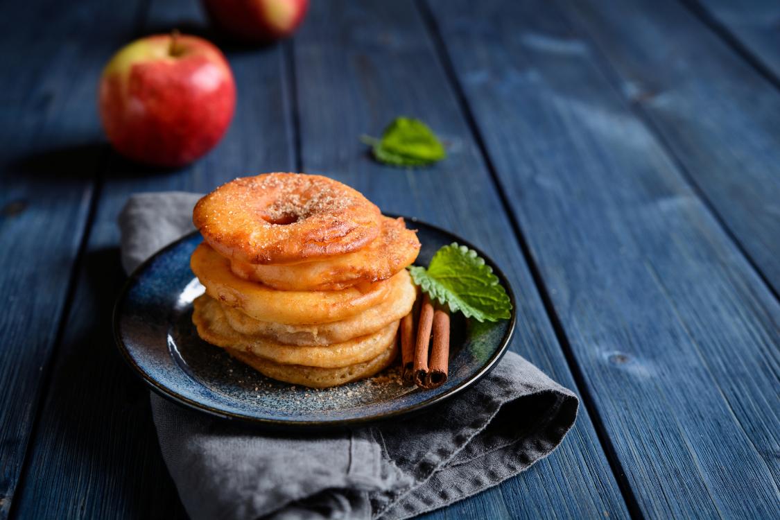 Receita de anéis de maçã