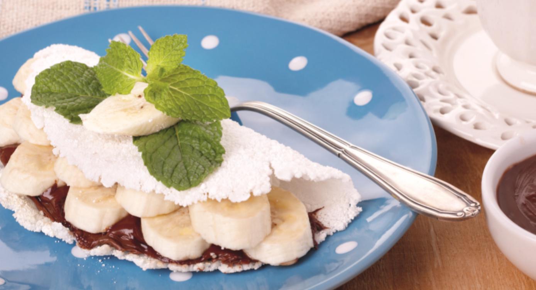 Tapioca de Nutella e banana