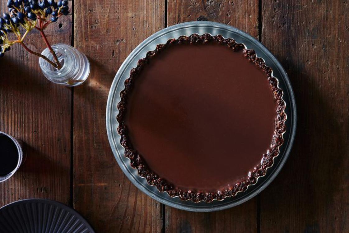 Tarte de chocolate e canela