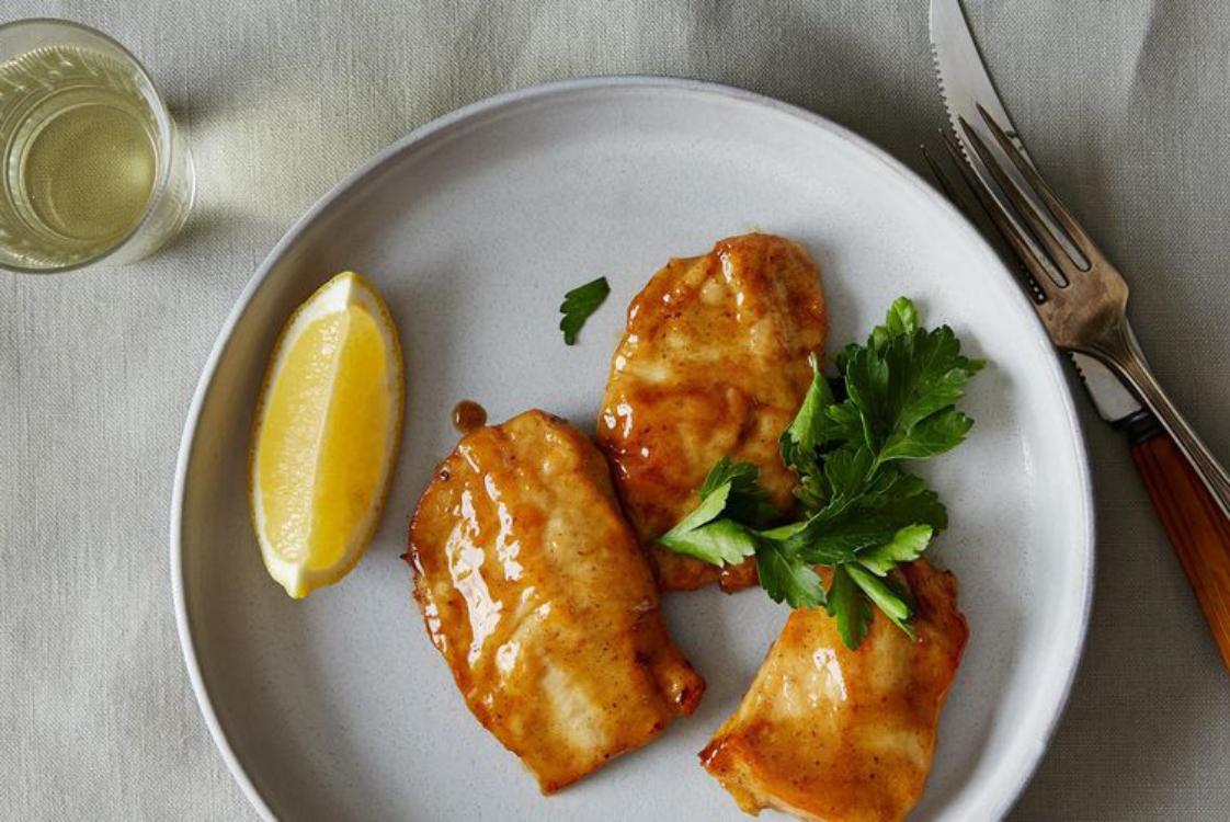 Receita irresistível de frango com molho de limão