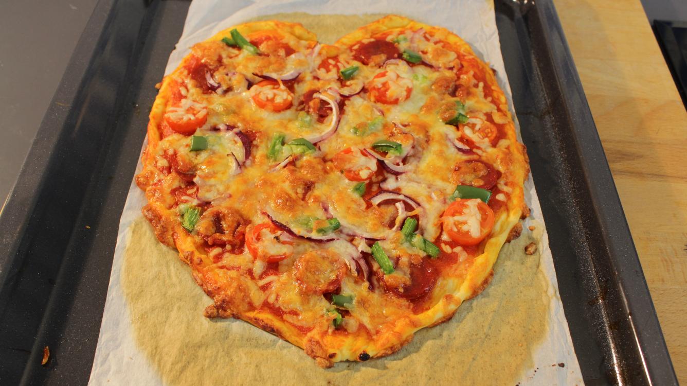 Receita de pizza coração