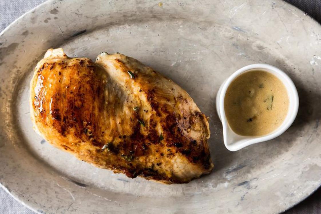 Receita fácil de frango com molho champanhe