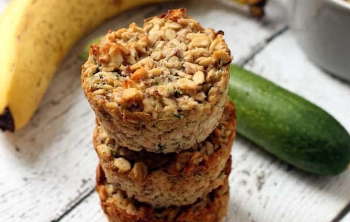 Muffins de banana, curgete e aveia: com apenas 134 calorias!