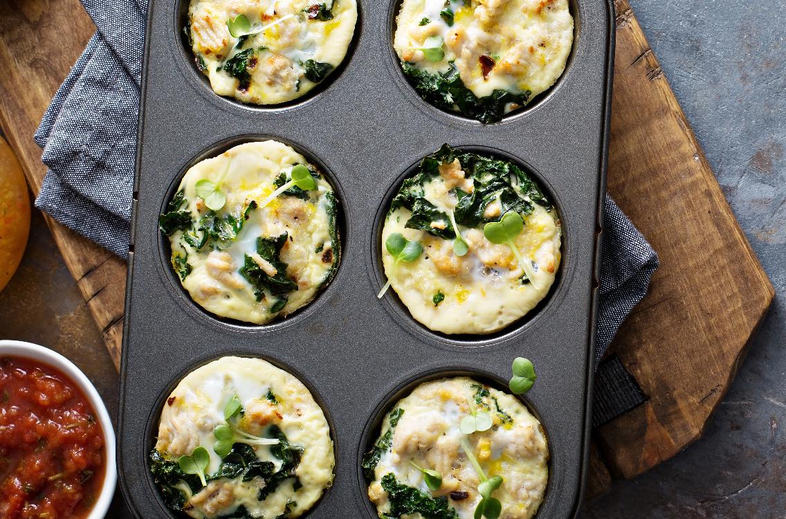 Muffins de agrião