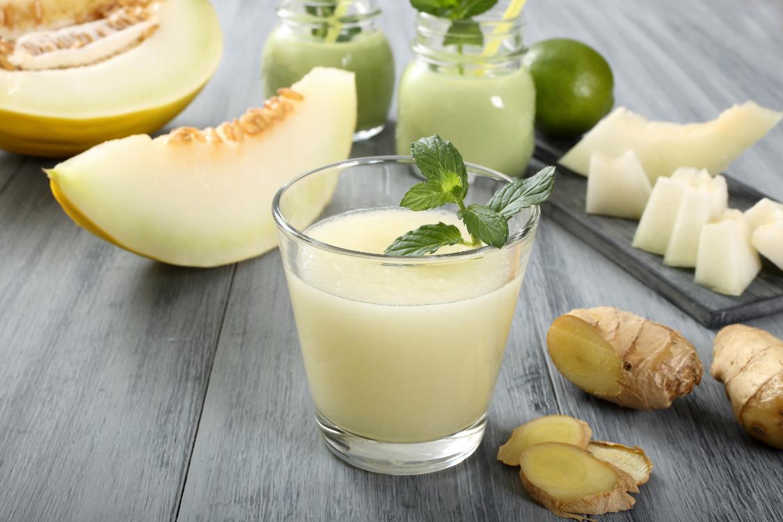 Smoothie de melão e gengibre