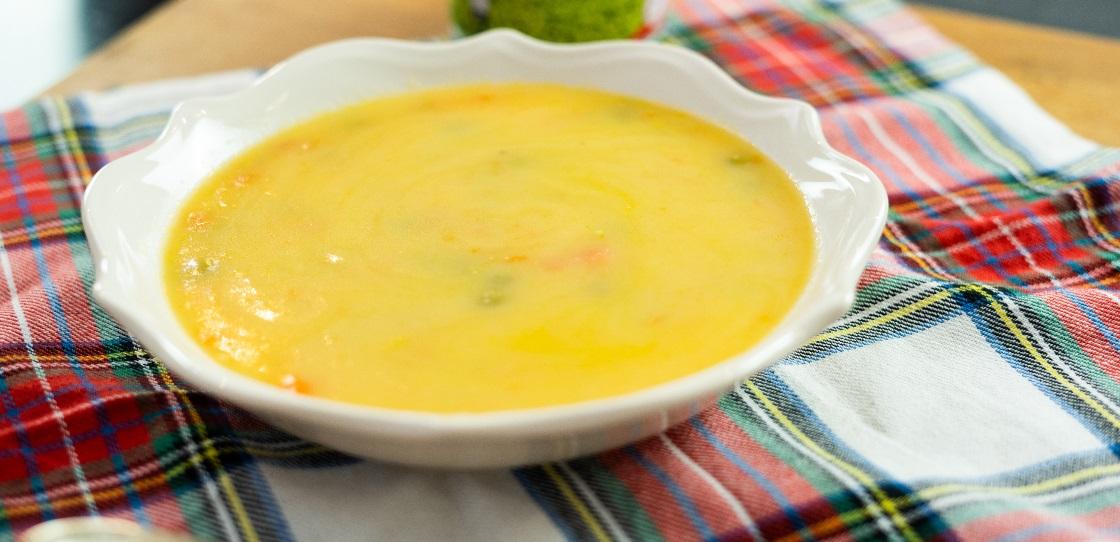 Receita de sopa de ervilhas com cenoura
