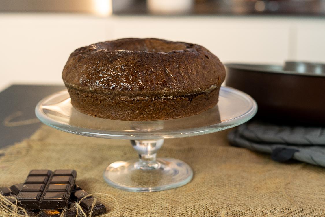 Receita de bolo de chocolate sem açúcar e sem leite