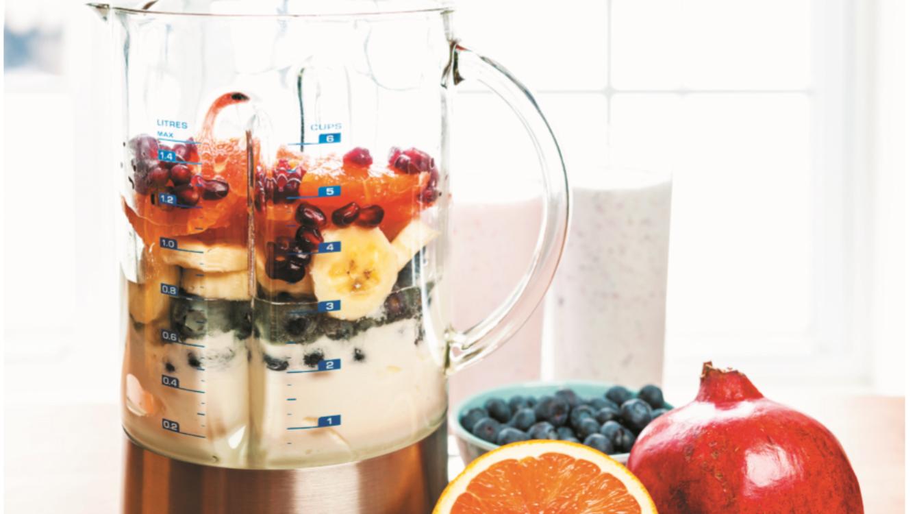 Smoothie de iogurte e frutas