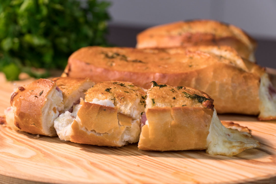 Receita de baguetes recheadas com queijo
