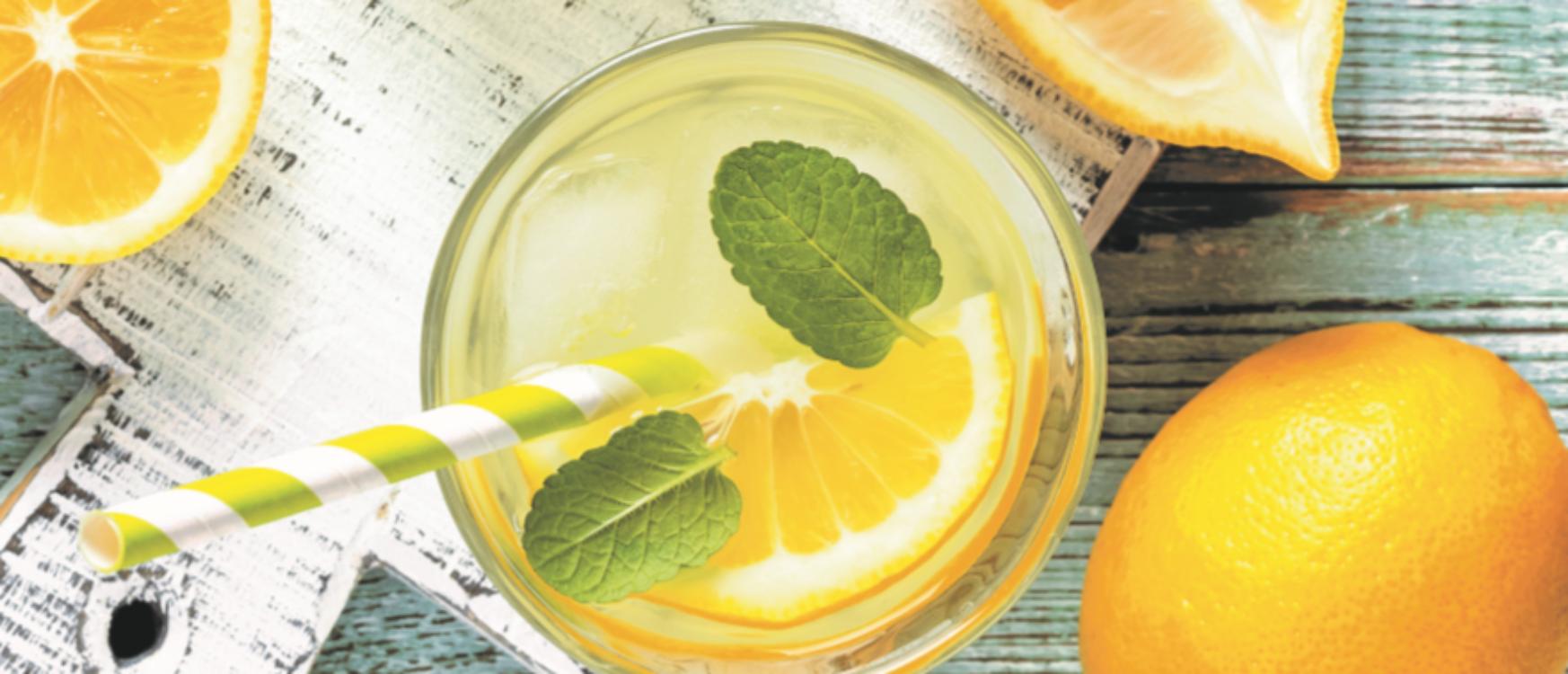 Receita fresca de limonada