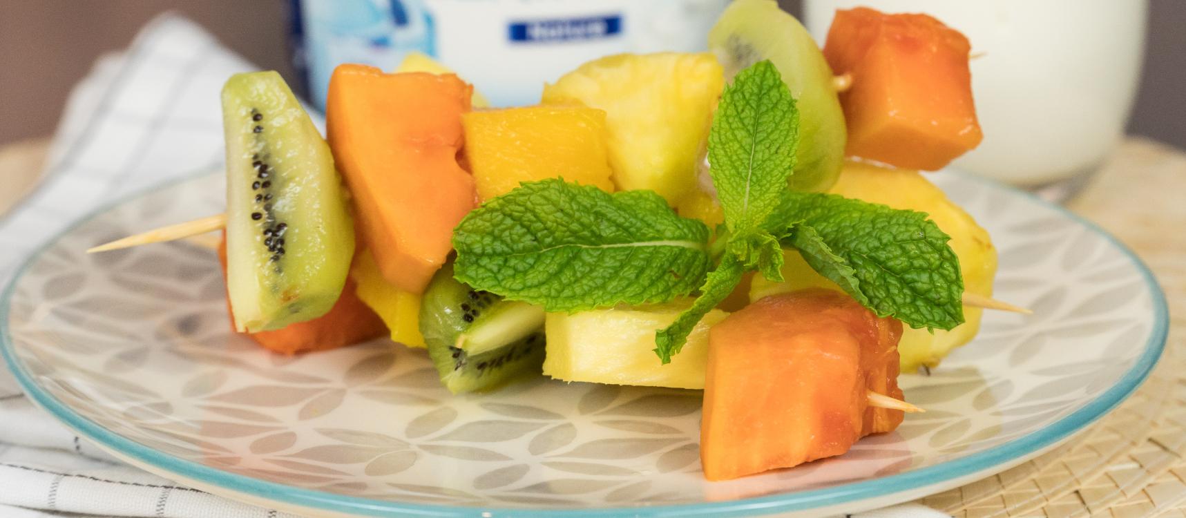 Receita de espetadas de fruta