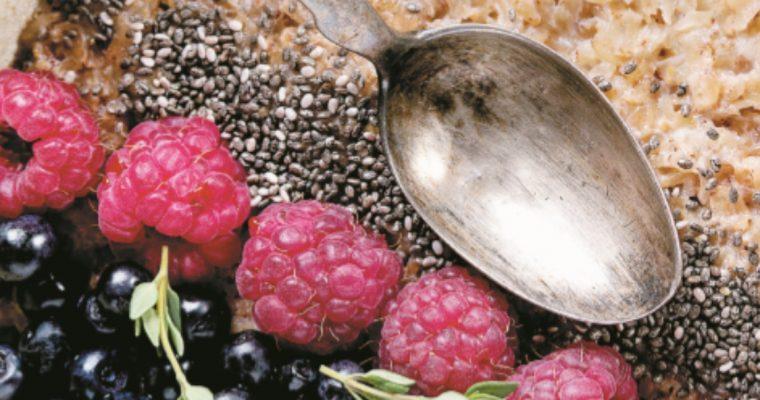 Papas de aveia integral com chia: uma opção muito saudável!