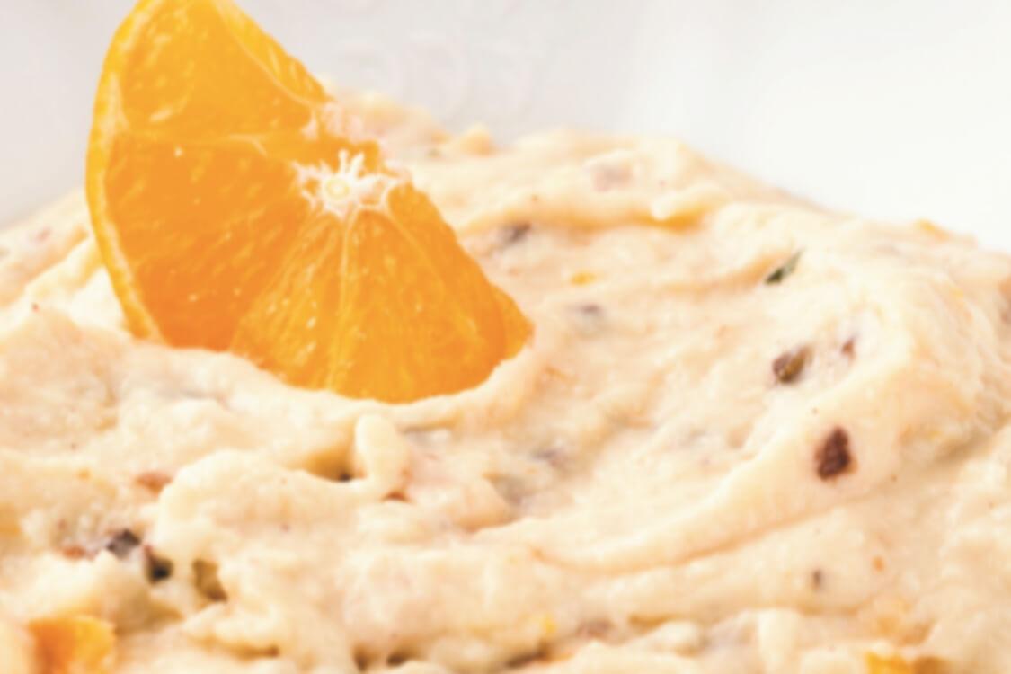 Papas de farinha de aveia com passas e laranja: prontas em 5 minutos!