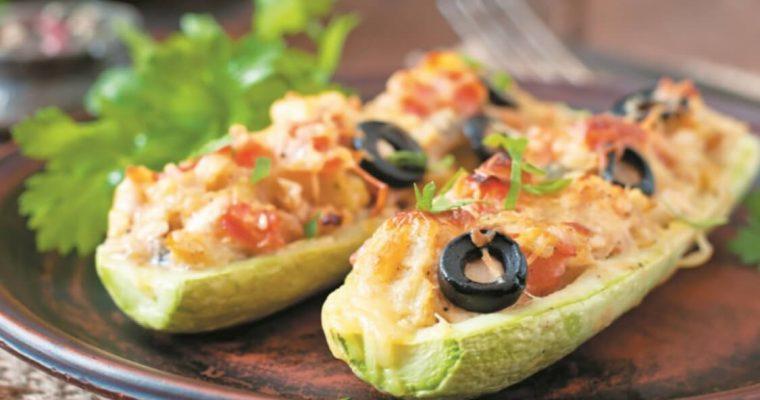 Courgette assada com frango: simples, prático… e delicioso!
