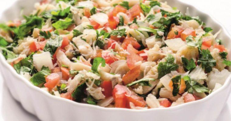 Salada de bacalhau: para aproveitar as sobras do Natal!