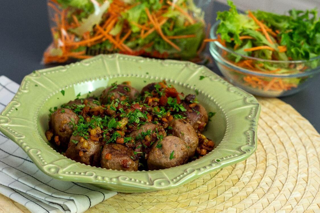 Almôndegas de peru com legumes: para começar 2020 com um prato saudável!