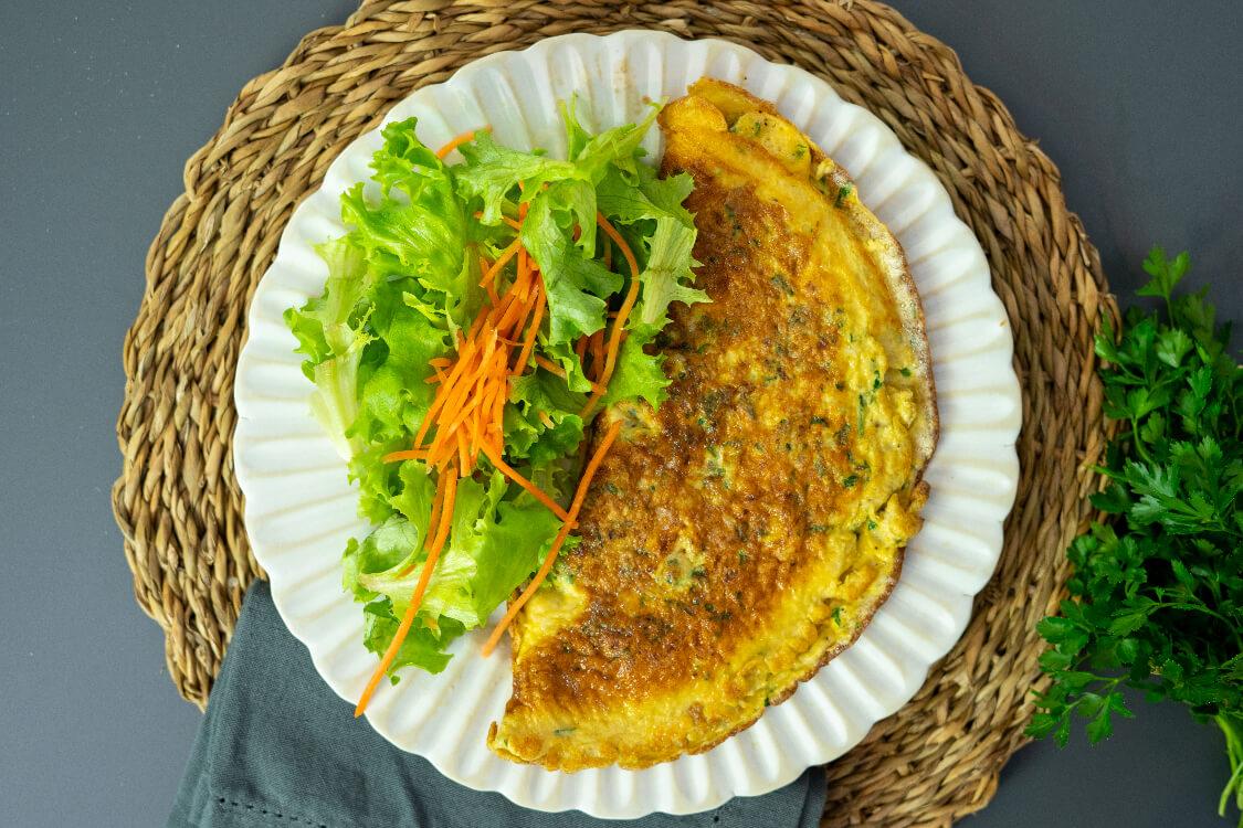 Omelete à minha moda: uma das melhores que já provou!