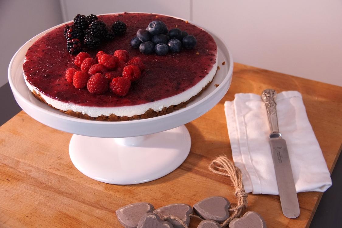 Cheesecake de frutos vermelhos: um doce do outro mundo!