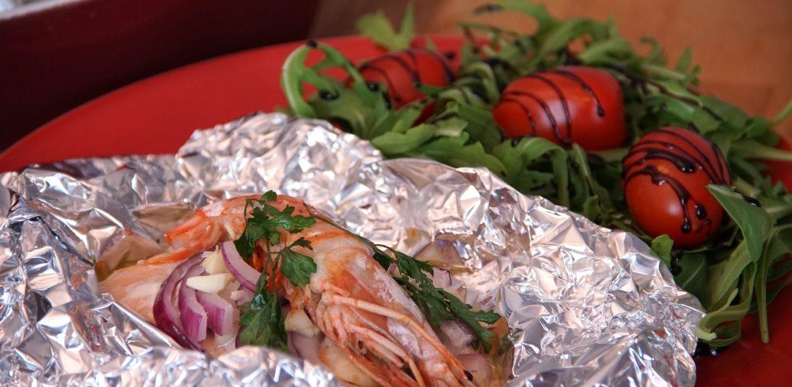 Papelotes de salmão e camarão: fácil e simples de preparar!