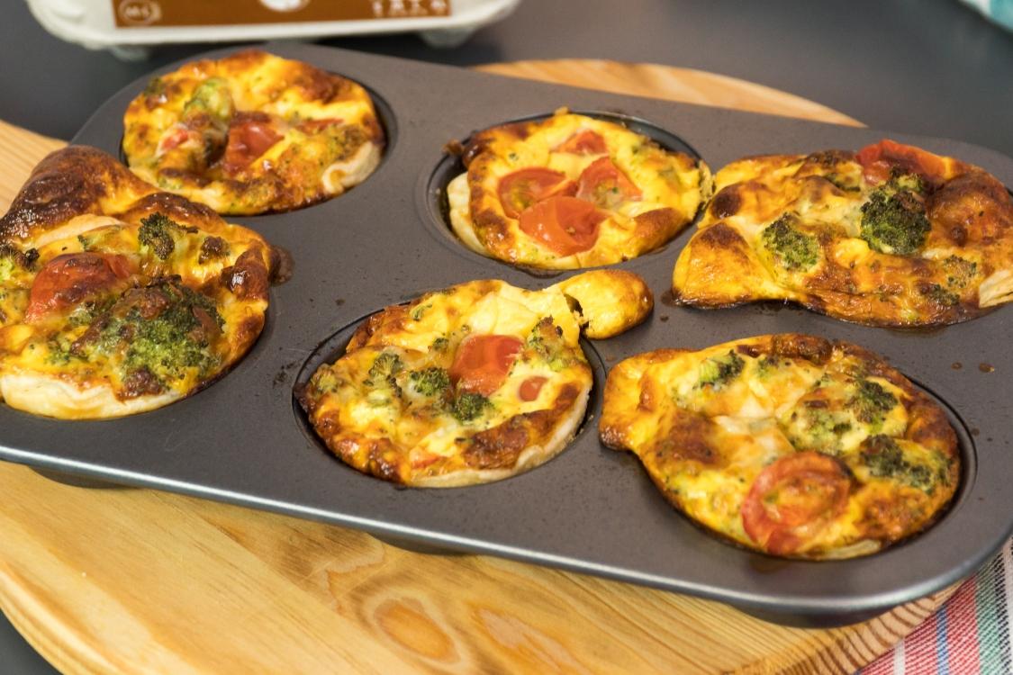 Mini quiches de brócolos e tomate cherry: um novo petisco para descobrir!