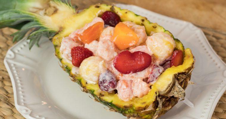 Salada de abacaxi com gambas: um prato criativo e saudável!