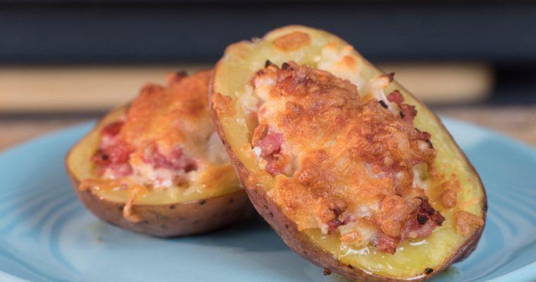 Batatas assadas com salsicha Toscana: um petisco perfeito!