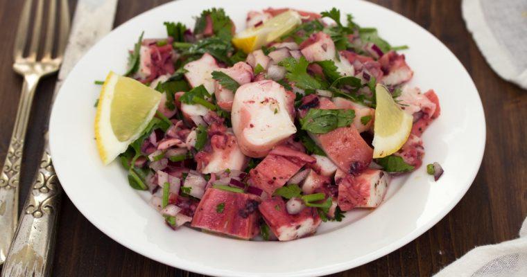 Salada de polvo: para petiscar em família… e repetir!