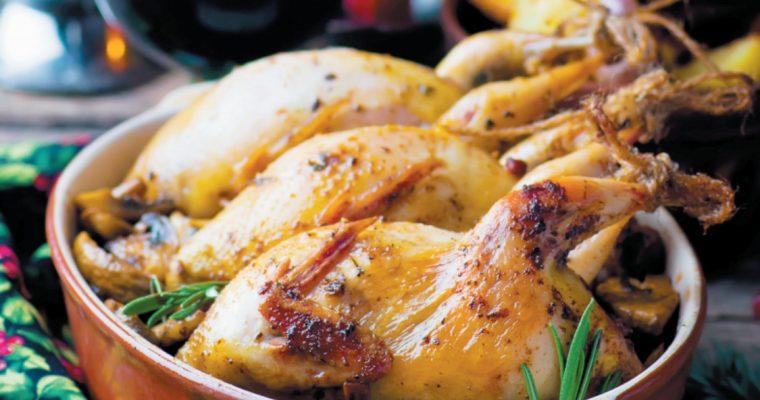 Codornizes no forno: prato simples e saboroso para o Natal!