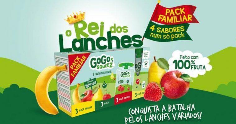 A fruta da GoGo squeeZ garante lanches variados, rápidos e nutritivos!