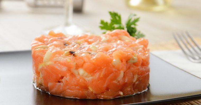 Receita de tártaro de salmão